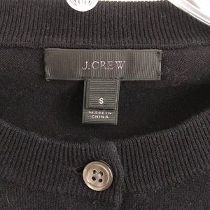 J. Crew Sweaters - J Crew Embroidered Black Cardigan